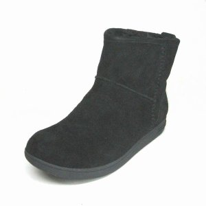 リーガル REGAL F38G ブラックスエード 本革 レディース ショートブーツ|shoes-maro