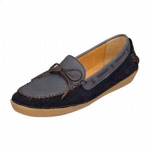 リーガル REGAL 靴 レディース F90E ネイビー 本革 リボン付き モカシンシューズ|shoes-maro