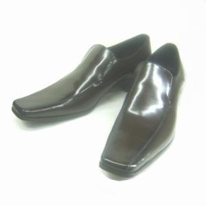 キャサリンハムネット KATHARINE HAMNETT KH3946 ダークブラウン ヴァンプ メンズ ビジネスシューズ|shoes-maro
