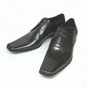 キャサリンハムネット KATHARINE HAMNETT KH3948 ダークブラウン スワールトゥ メンズ ビジネスシューズ|shoes-maro
