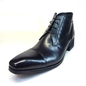 エルオム 靴 メンズ ELLE HOMME SPEH7223 ブラック 本革 3E EEE メンズ ...