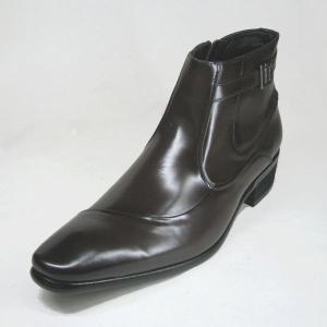 メンズ ブーツ 本革 トラサルディ TRUSSARDI TR10256 ダークブラウン 26.5cm