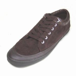 トラサルディ 靴 メンズ TRUSSARDI TR17006 ダークブラウンスエード 本革 レザースニーカー|shoes-maro