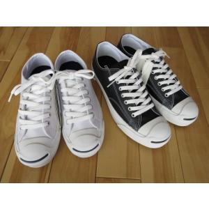 コンバース レザージャックパーセル CONVERSE LEA JACK PURCELL 黒・白 shoes-smile