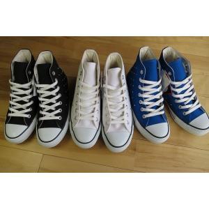 コンバース CONVERSE ALLSTAR DOTSTUDS HI ホワイト・ブラック・ブルー|shoes-smile