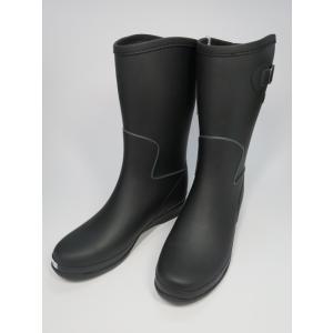 ヒロミチナカノ カジュアルレインブーツ L015R ブラック|shoes-smile