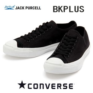 コンバース ジャックパーセル BKプラス メンズレディースキャンバススニーカー converse jackpurcell BKPLUS ブラック|shoes-sneakerkawa