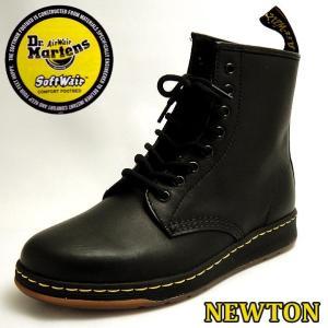 ドクターマーチン Dr Martens DM's ライト ニュートン メンズレディース8ホールブーツ LITE NEWTON 8 EYE BOOT 21856001 ブラック黒 BOOT|shoes-sneakerkawa