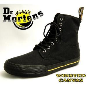 ドクターマーチン Dr Martens メンズレディースキャンバスハイカット8ホールスニーカー WINSTED CANVAS EYE 21953001 ブラック黒|shoes-sneakerkawa