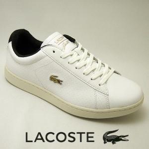 ラコステ カーナビー メンズレザースニーカー CARNABY EVO 317-2 ホワイト/グリーン 白/緑 lacoste SPM0002-082|shoes-sneakerkawa