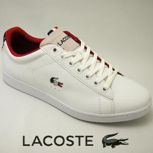 ラコステ カーナビー メンズレザースニーカー CARNABY EVO 317-3 ホワイト/ネイビー 白/紺 lacoste SPM0003-042|shoes-sneakerkawa
