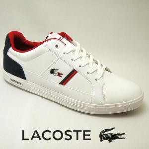 ラコステ ヨーロッパ メンズレザースニーカー EUROPA 317-1 ホワイト/ネイビー 白/紺 lacoste SPM0012-042|shoes-sneakerkawa