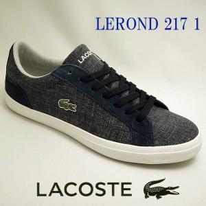 ラコステ メンズスニーカー LEROND 217 1 ネイビー紺 lacoste CAM1064 003|shoes-sneakerkawa