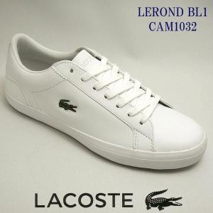 ラコステ メンズレザースニーカー LEROND BL1 ホワイト 白 lacoste cam1032 001|shoes-sneakerkawa