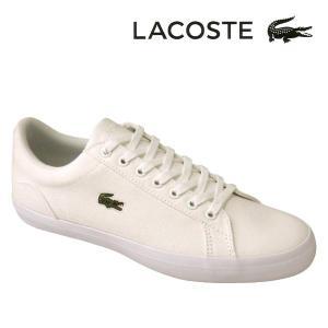 ラコステ メンズキャンバススニーカー LEROND BL2 ホワイト白 ネイビー lacoste cam1033 001 003|shoes-sneakerkawa