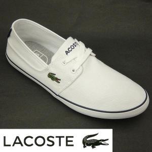 ラコステ メンズキャンバススニーカー MARICE LACE URS lacoste maf021 ホワイト/ダークブルー 白 |shoes-sneakerkawa