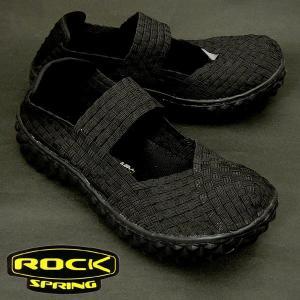 ROCK SPRING OVER RS103 ロック スプリング オーバー ウーブンシューズ BLACK/BLACK shoes-sneakerkawa