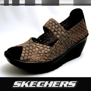 スケッチャーズ レディースウェッジサンダル Parallel Silver Linings 38411 BRZ SKECHERS SUNDAL|shoes-sneakerkawa
