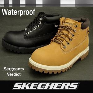 スケッチャーズ メンズ防水加工レザーワークブーツ 4442 Sergeants-Verdict skechers 【10%OFF】【送料無料】|shoes-sneakerkawa