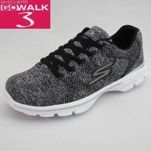 スケッチャーズ レディーススリッポンスニーカー GO WALK3 Super Sock3 14059 ブラック/ホワイト 黒 SKECHERS ゴーウォーク GOGA PLUS|shoes-sneakerkawa