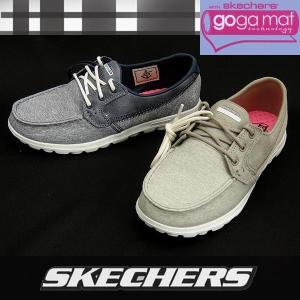 【セール】【返品不可】 スケッチャーズ レディースボートスニーカー ON-THE-GO Headsail 13838 ネイビー&トープ SKECHERS オンザゴーGOGA MAT|shoes-sneakerkawa