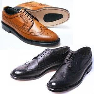 本革 革底 3E 高級ビジネスシューズ メンズ Brithish Classic ウィングチップ 5154 ブラック ブラウン ブリティッシュクラシック 革靴 紳士靴(24cm〜27cm)|shoes-sunnys