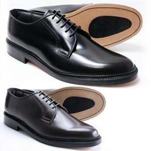本革 革底 革靴 3E 高級ビジネスシューズ メンズ ブリティッシュクラシック プレーントウ 5155 ブラック ブラウン Brithish Classic 紳士靴(24cm〜27cm)|shoes-sunnys