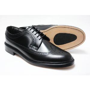 本革 革底 革靴 3E 高級ビジネスシューズ メンズ ブリティッシュクラシック ウィングチップ 5156 ブラック Brithish Classic 紳士靴(24cm〜27cm)|shoes-sunnys