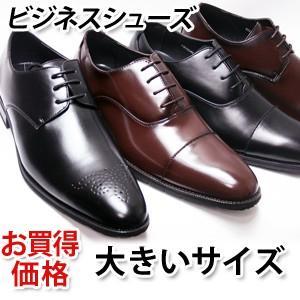 大きいサイズ(28cm〜30cm)ビジネスシューズ お買得  3E メダリオン ストレートチップ (紳士靴・メンズ)|shoes-sunnys
