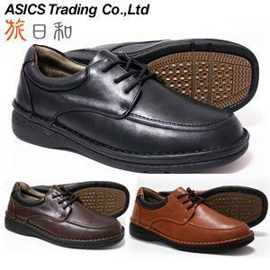 旅日和 アシックス商事 ウォーキングシューズ メンズ TB7848 幅広4E ブラック D.ブラウン キャメル(24.5cm/25cm/25.5cm/26cm/26.5cm/27cm)|shoes-sunnys