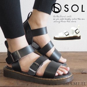 サンダル レディース SOL ソル 19838 shoesbase2nd