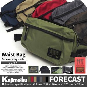 Kajimeiku カジメイク FORECAST フォーキャスト  9104 Waist Bag ウエストバッグ メンズ レディース|shoesbase2nd