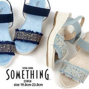 サンダル キッズ サムシング エドウィン SOMETHING EDWIN SOM-3086|shoesbase