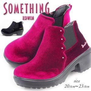 サイドゴアシューズ キッズ サムシング エドウィン SOMETHING EDWIN SOM-3103|shoesbase