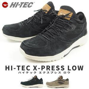 レザースニーカー メンズ HI-TEC ハイテック X-PRESS LOW|shoesbase