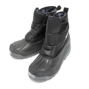 ボア付き 防寒 防水 ブーツ メンズ レインシューズ  ビーンズクラブ2200|shoesclubc