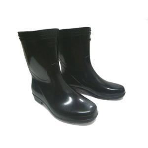 長靴 メンズ 作業用 福山ゴム工業 シンプル 黒 レインブーツ|shoesclubc