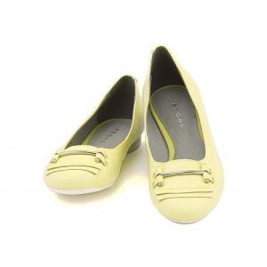 リーガル レディース バレエ パンプス 痛くない ローヒール 歩きやすい 本革 ビット付き F60G REGAL F60G イエロー|shoesdirect