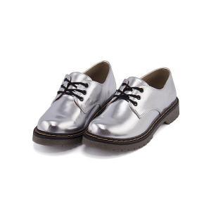 オックスフォードシューズ ぺたんこ レディース レースアップ 美脚 リップザスウェル Rip the Swell 876027 シルバー|shoesdirect
