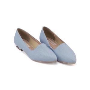 パンプス 痛くない ローヒール レディース ポインテッドトゥ パールヒール 美脚 リップザスウェル Rip the Swell 882007 ブルー|shoesdirect