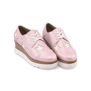 厚底 オックスフォードシューズ ウェッジソール レディース レースアップ 美脚 リップザスウェル Rip the Swell 883004 ピンク|shoesdirect