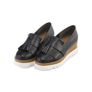 厚底 タッセル ローファー ウェッジソール レディース 美脚 リップザスウェル Rip the Swell 883005 ブラック|shoesdirect