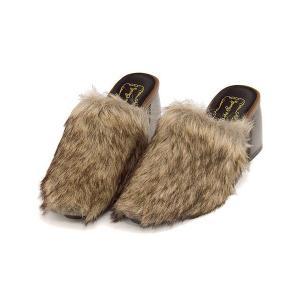 ミュール サンダル 太ヒール レディース ファー 美脚 リップザスウェル Rip the Swell 150 ブラウン/コンビ|shoesdirect