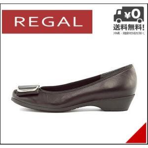 リーガル バレエ パンプス 痛くない ローヒール レディース レザー ベルト付き 美脚 EE REGAL F49GAF ブラック|shoesdirect