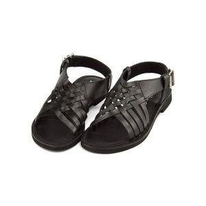 サンダル ぺたんこ バックストラップ レディース レザー メッシュ 軽量 美脚 マリクス maliks SC2613 ブラック|shoesdirect