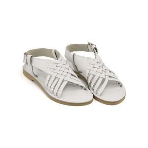 サンダル ぺたんこ バックストラップ レディース レザー メッシュ 軽量 美脚 マリクス maliks SC2613 ホワイト|shoesdirect