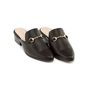 セシルマクビー ミュール サンダル ローヒール レディース ビット付き 美脚 CECIL McBEE 4399 ブラック|shoesdirect