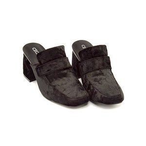 セシルマクビー ローファー ミュール サンダル 太ヒール レディース 美脚 CECIL McBEE 230636 ブラックベロア|shoesdirect