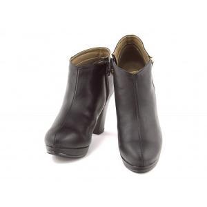 ブーティー 太ヒール 歩きやすい 疲れない レディース サイドジップ 厚底 プラットフォーム 美脚 リップザスウェル 858011 ブラック|shoesdirect