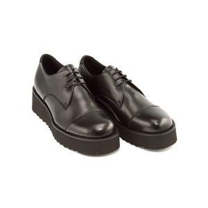 厚底 オックスフォードシューズ メンズ レースアップ プンタ Punta 377222 ブラック shoesdirect